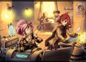 Afternoon Repairs by Exarrdian