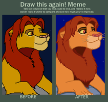 Draw This Again 2009 vs 2018 by OzzyRingoBrucey