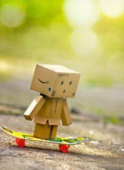 Danbo is showing his tricks by Pamba