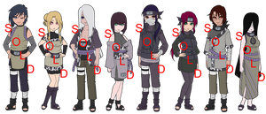 Mixed Oto Naruto OC Adoptables - SOLD OUT by mistressmaxwell