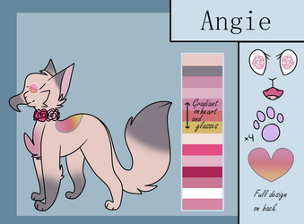 Angie Oc Ref Sheet by TheCranburryQueen