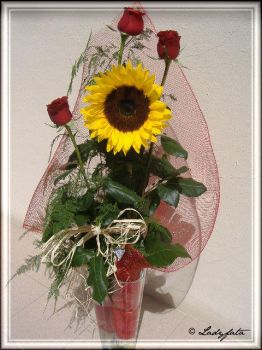 rose and sunflower.. by ladyfata