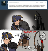Connor's bows and bros have got his back by AskConnorsTomahawk