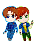 Chibi Leon and  Steve by Soraya-Mendez