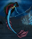 Mermaid Warrior by TakenFlyght