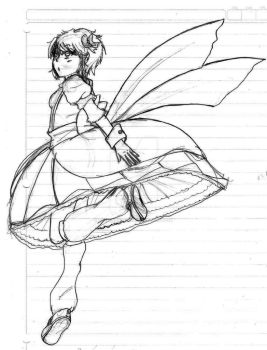 Aelita jumping sketch by LyokoFanLatina