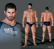 XPS - Naked Chris Redfield by DaemonCollection