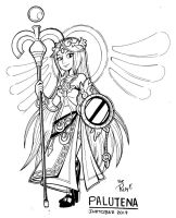 Inktober 15 PALUTENA by FlintofMother3