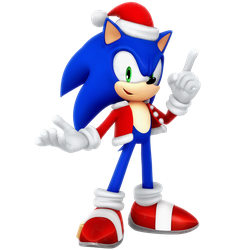 Sonic Santa Christmas 2017 Render by Nibroc-Rock