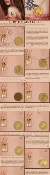 Gold Coin Tutorial by SaisonRomantique
