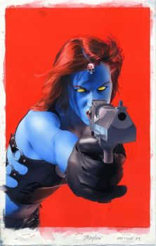 Mystique 10 Cover Painting by mikemayhew