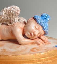 Baby Angel sculpture complete by queenelf