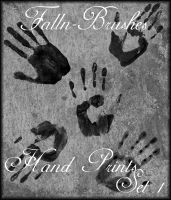 Hand Prints Brushes Set 1 by Falln-Stock