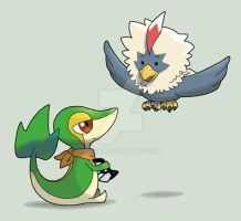 snivy-lando and rufflet-hersh