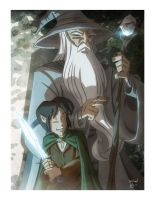 Wizard and Hobbit by OtisFrampton