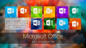 Microsoft Office (square tiles) by javijavo93
