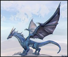 Naelyan - Water Dragon - Draconian Magick by FrancisLugfran
