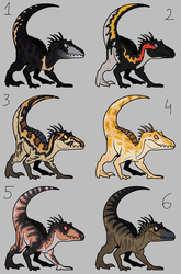 [CLOSED] Indoraptor adoptables #2 by GoldenNove