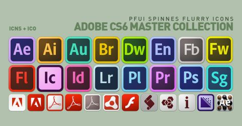 Adobe CS6 Master Collection Flurry Icons by pfuispinne