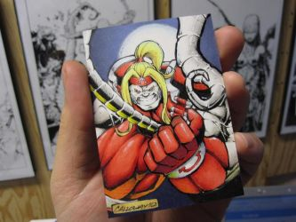 Omega Red Sketch Card by GeorgeCalloway