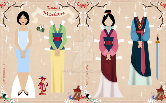 Mulan Paper Doll by Cor104
