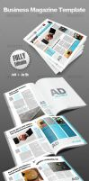 Business Magazine Template by victorsosea