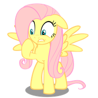 Worried Fluttershy by linas3001