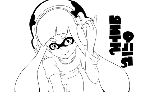 Inkling Lineart by MisterBrony
