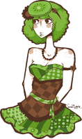 Kiwi Flavored Freckles by TheseFourSocks