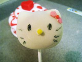 Hello Kitty Cakepops by instantpudding