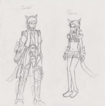 Final Fantasy Free-Company sketch (3) by lunixesquire