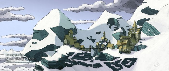 Outpost of the Blue Slate Peaks by xTernal7
