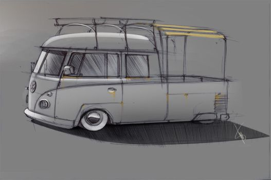 Vw Bus scetch by braver-art