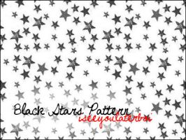 Black Stars Pattern by Iseeyoulaterboi