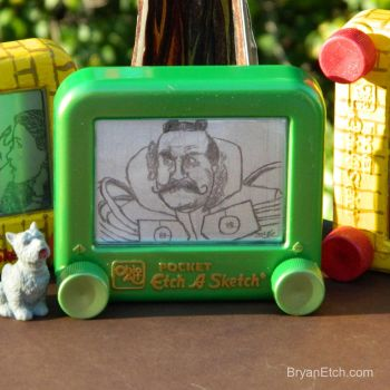 The Wizard of Oz, Emerald City Gatekeeper Etch by bryanetch