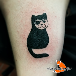 Lucky Cat Tattoo by NikkiFirestarter