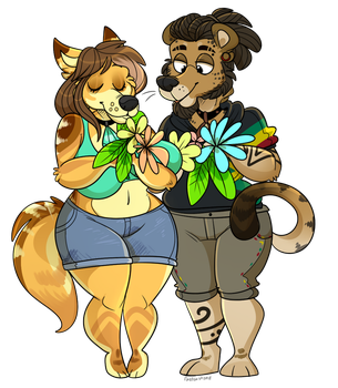 Tropical Flowers (Commission) by BeastOfEuthanasia