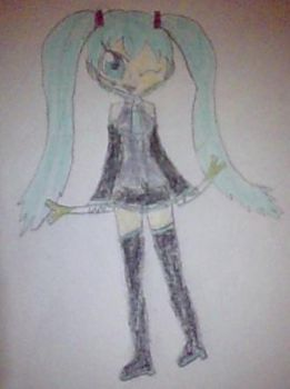 Miku Hatsune Sketch by Fairmontrainer