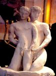 Lovers Original Clay Sculpture by mertonparrish
