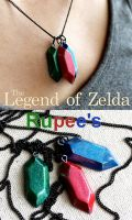 Rupee's from Legend of Zelda by GandaKris