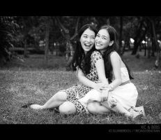 Twins: KC and Bebs by slumberdoll
