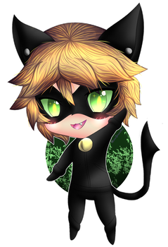 Chibi Chat Noir by NeonSmoothie