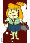 Animal Crossing: Isabelle is ready for SMASH by ArikoLadyKawaii