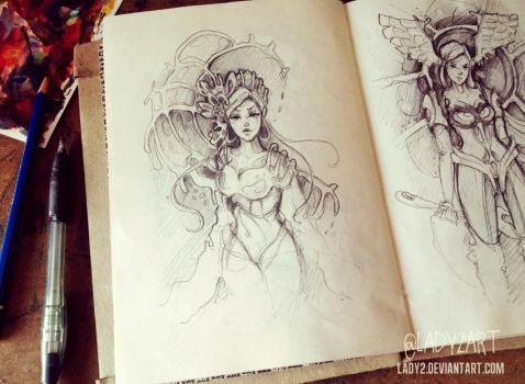 an_old_sketchbook. by Lady2