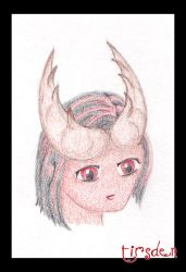 anime Tiefling Shane colored by tirsden