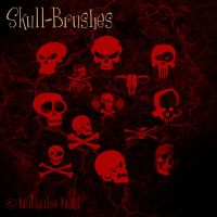 skull-brush-set by fUcKiTaLL