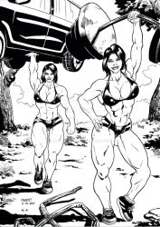 Superstrong twins Inks by Alf-Alpha