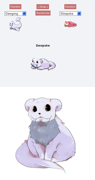 -Pokemon fusion- Dewpoke by Miharuruu