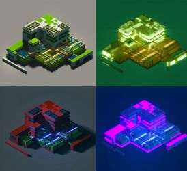 Voxel Garden Lab Compo by Kamikaye