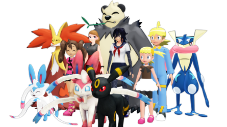 Oka's PKMN Adventure - The Kalos Gang MMD by FcoMk513
